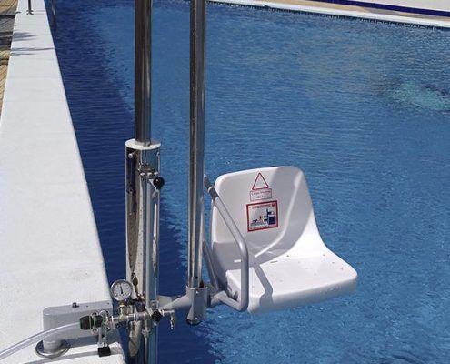 silla ascensor piscina